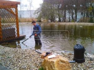 Zazimovanie záhradného jazierka